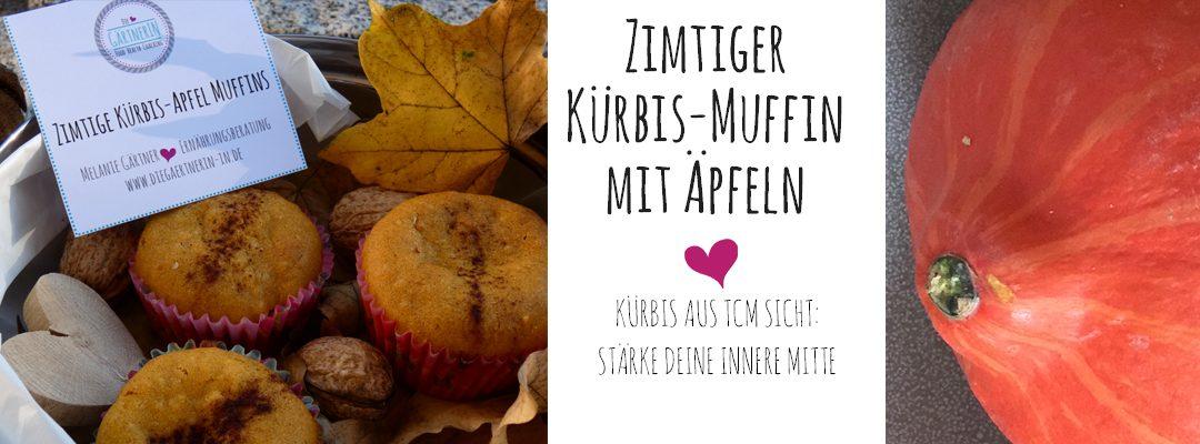 Zimtiger Kürbis-Muffin mit Äpfeln