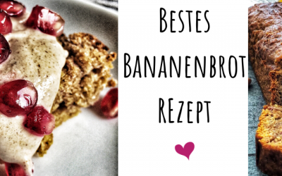 Bestes Bananenbrot ever! Schnell zubereitet, zuckerfrei und vegan!